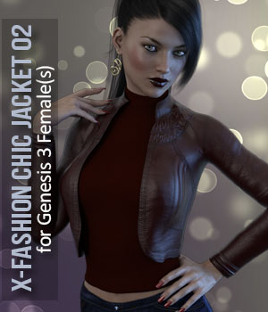 X-Fashion Chic Jacket for Genesis 3 Female(s) 3D Figure Essentials xtrart-3d