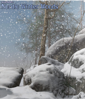 3D Scenery: Nordic Winter Woods - Extended License 3D Models Extended Licenses ShaaraMuse3D