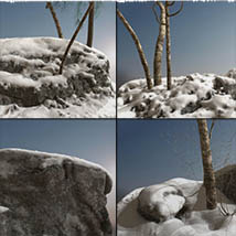 3D Scenery: Nordic Winter Woods - Extended License image 5