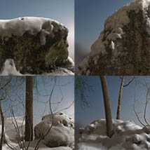3D Scenery: Nordic Winter Woods - Extended License image 6
