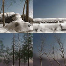3D Scenery: Nordic Winter Woods - Extended License image 7