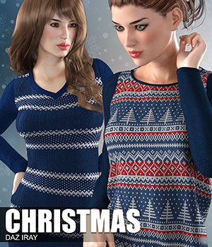 Daz Iray - Christmas 2D Graphics Merchant Resources Atenais