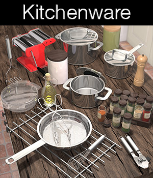 Everyday items, Kitchenware 2 3D Models 2nd_World