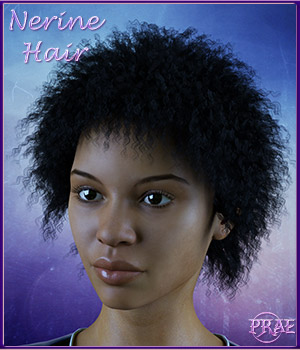 Prae-Nerine Hair for G3 3D Figure Assets prae