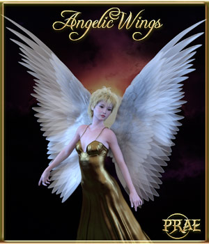 Prae-Angelic Wings for G3 3D Figure Assets prae