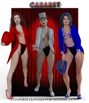 Cabaret for GENESIS 3 F / V7 3D Figure Assets zachary