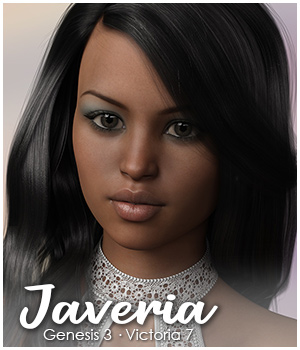 Javeria for Victoria 7 and Genesis 3 3D Figure Essentials Jadyn