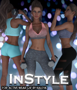InStyle - Active Wear G3F 3D Figure Assets -Valkyrie-