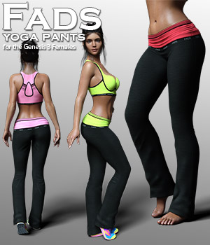 Fads Yoga Pants for Genesis 3 Female 3D Figure Assets RPublishing