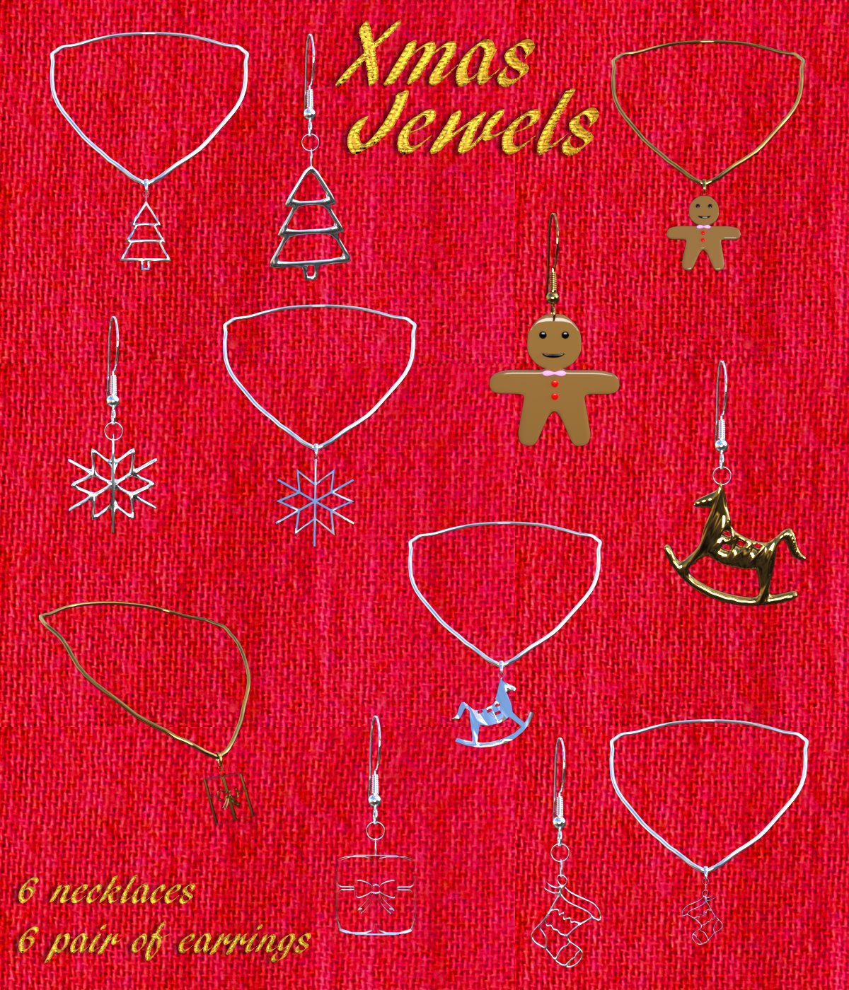 Xmas Jewels for G3F / V7