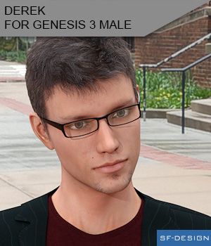 Derek for Genesis 3 Male 3D Figure Assets SF-Design