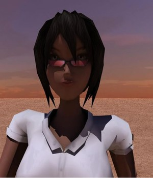 Anime Black Girl 3D Models Extended Licenses Game Content - Games and Apps KRBY
