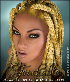 Touchable Box Braids 3D Figure Assets -Wolfie-
