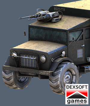 Armored Truck - Extended License 3D Models Extended Licenses 3D Game Models : OBJ : FBX KRBY