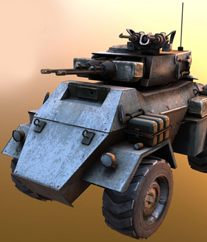 Armored Vehicle-  Extended License 3D Models Extended Licenses 3D Game Models : OBJ : FBX KRBY