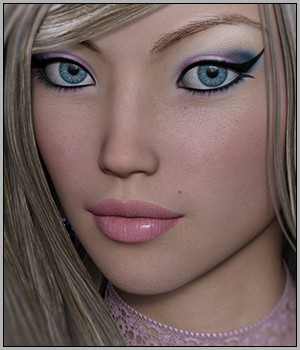 Livia for Genesis 3 Female(s) 3D Figure Assets Silver