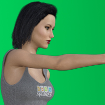 Sequential Knife Throwing Poses for V7/G3F image 1