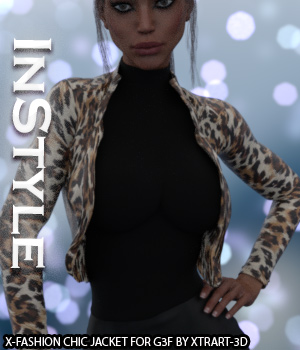 InStyle - X-Fashion Chic Jacket for Genesis 3 Female(s) 3D Figure Assets -Valkyrie-