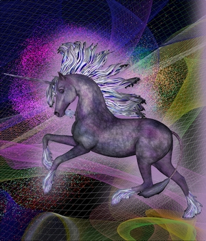 IM- Fantasy Unicorn - Chroma 3D Figure Essentials Immortal_Moments_Art