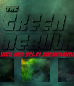 GREEN NEBULA BACKGROUNDS 2D Graphics azmulder
