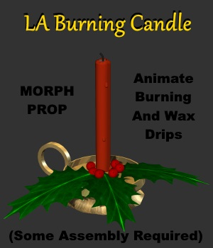 LA Burning Candle -  Extended License 3D Models 3D Game Models : OBJ : FBX Extended Licenses LordAshes
