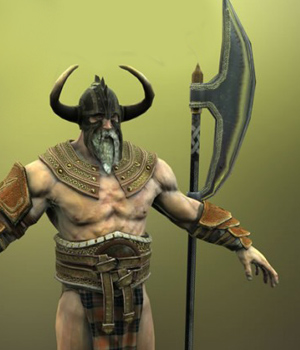Barbarian King - Extended License 3D Figure Assets Extended Licenses 3D Game Models : OBJ : FBX KRBY