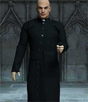 Priest Outfit for Genesis 3 Male(s)  3D Figure Essentials Toyen