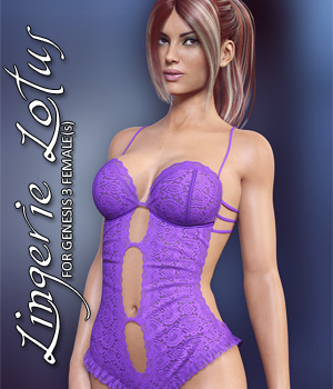 Lingerie Lotus for Genesis 3 Females 3D Figure Assets lilflame