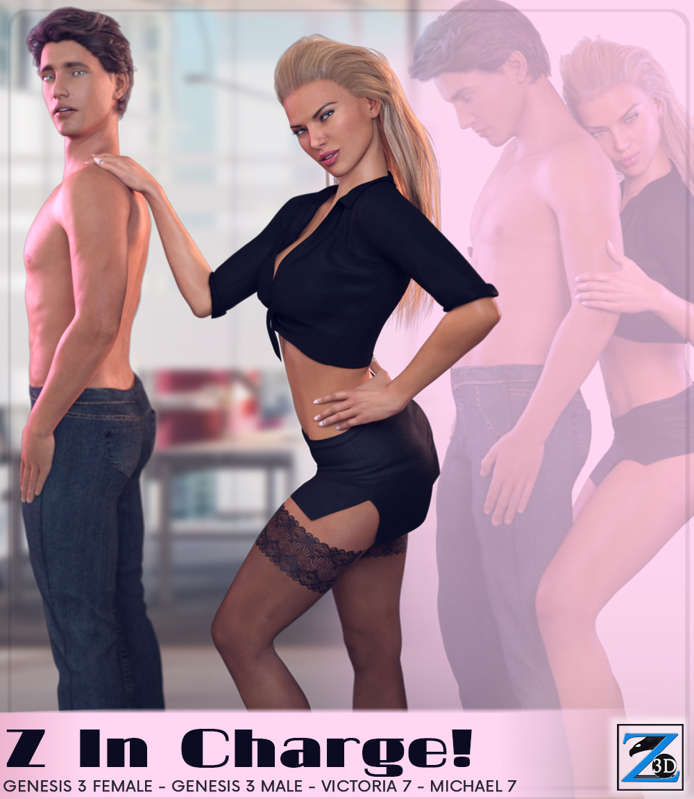 Z In Charge - Poses for Genesis 3 Male & Female/ Michael & Victoria 7