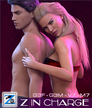 Z In Charge - Poses for Genesis 3 Male & Female/ Michael & Victoria 7 3D Figure Assets Zeddicuss