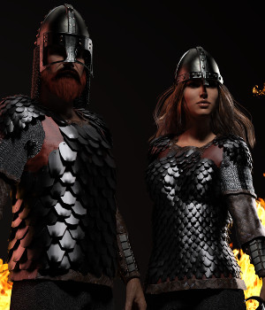 Dark Age Scale Armor 3D Figure Assets Deacon215