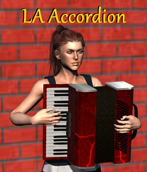 LA Accordion MorphProp for DAZ Studio 3D Models LordAshes