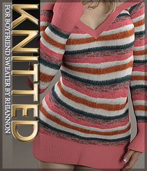 Knitted for Boyfriend Sweater 3D Figure Assets Sveva
