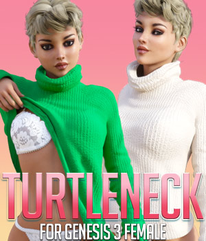 Turtleneck for G3 females 3D Figure Assets powerage