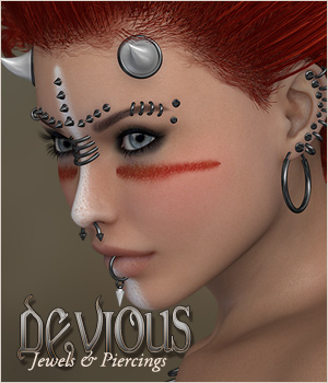 Devious - Jewelry Pierce - Extended License 3D Figure Essentials Extended Licenses P3D-Art
