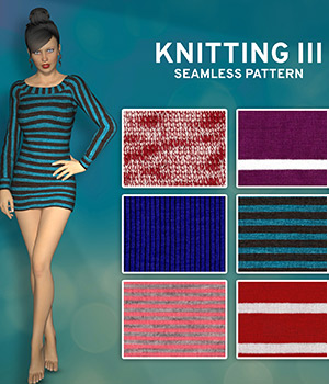 Knitting III :: Seamless Pattern 2D Graphics Merchant Resources Cyrax3D