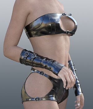 Strap Outfit for G3F 3D Figure Assets idler168