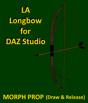 LA Longbow with Arrow for DAZ Studio 3D Models LordAshes