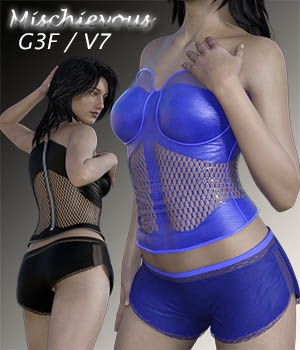 Mischievous for G3F-V7 3D Figure Assets zachary
