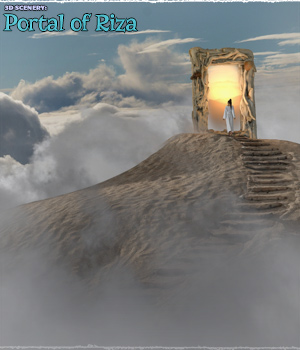 3D Scenery: Portal of Riza 2D Graphics 3D Models ShaaraMuse3D