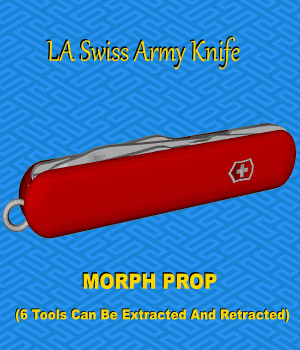 Swiss Army Knife prop  - Extended License 3D Models Extended Licenses 3D Game Models : OBJ : FBX LordAshes