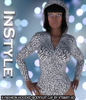 InStyle - X-Fashion Hooded Bodysuit for Genesis 3 Female(s) 3D Figure Essentials -Valkyrie-