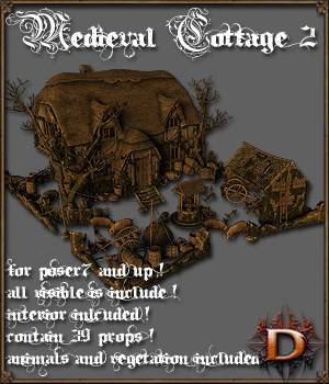 Medieval Cottage 2 3D Models Dante78