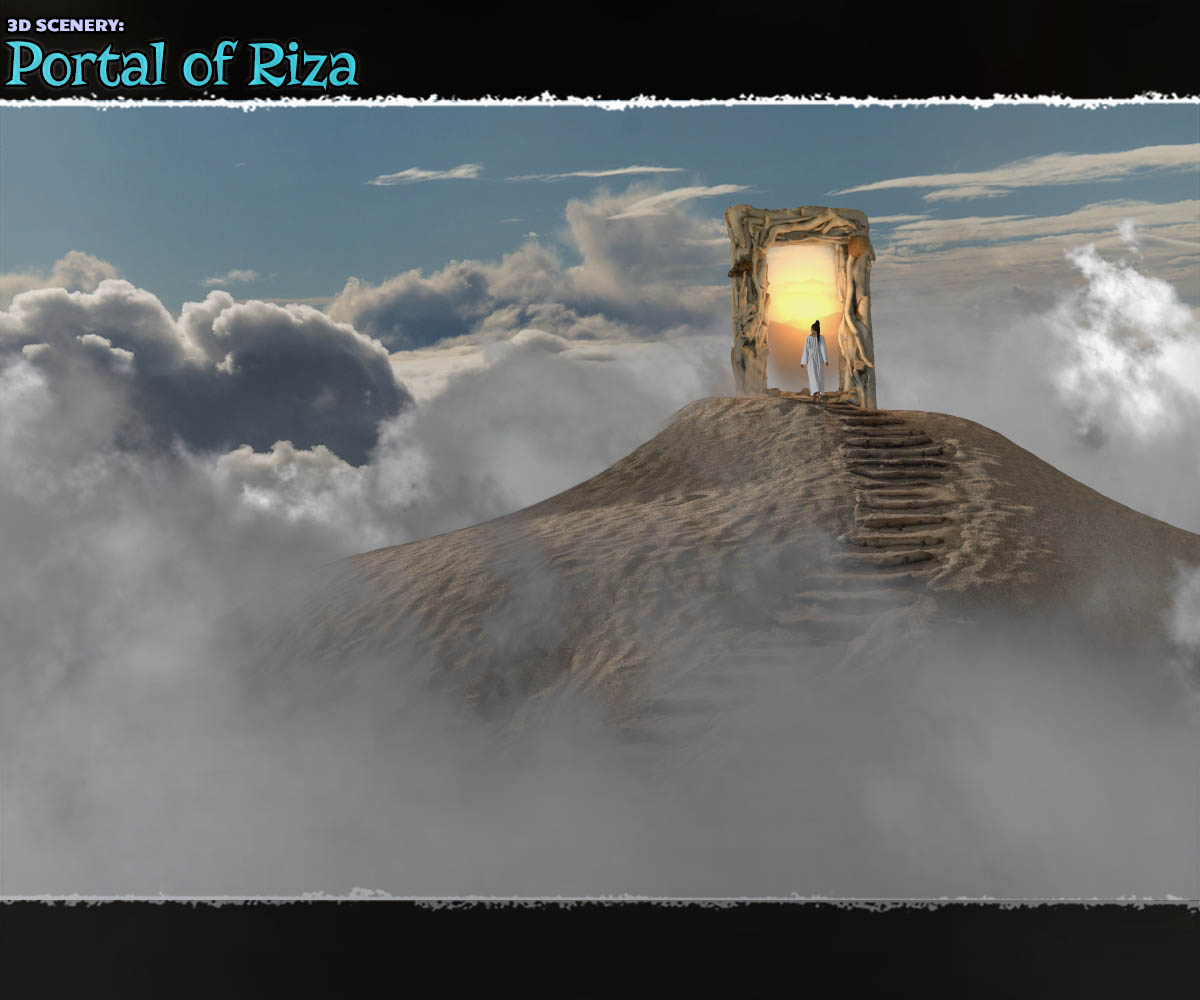 3D Scenery: Portal of Riza - Extended License