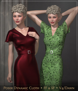 FRQ Dynamics: 1930s Glamour 3D Figure Assets Frequency