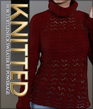 Knitted for Turtleneck Sweater 3D Figure Assets Sveva