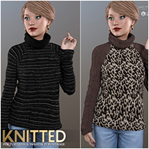 Knitted for Turtleneck Sweater image 1