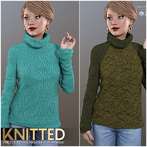 Knitted for Turtleneck Sweater image 2
