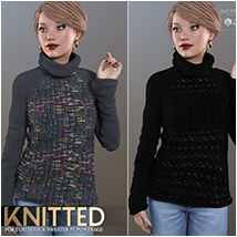 Knitted for Turtleneck Sweater image 3
