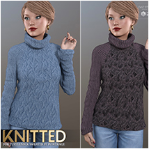 Knitted for Turtleneck Sweater image 5